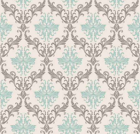 motives: seamless pattern with art ornament. Vintage elements for design in Victorian style. Ornamental lace tracery background. Ornate floral decor for wallpaper. Endless texture