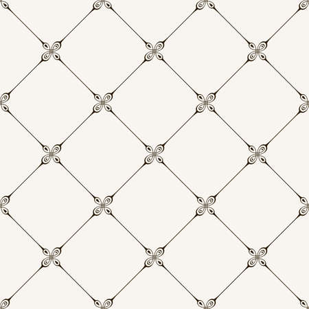 tile pattern: seamless tile pattern. Modern stylish texture. Geometric with dotted rhombus in vintage floral style
