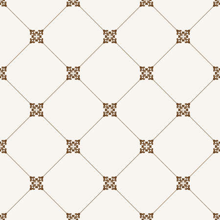 seamless tile: seamless tile pattern. Modern stylish texture. Geometric with dotted rhombus in vintage floral style