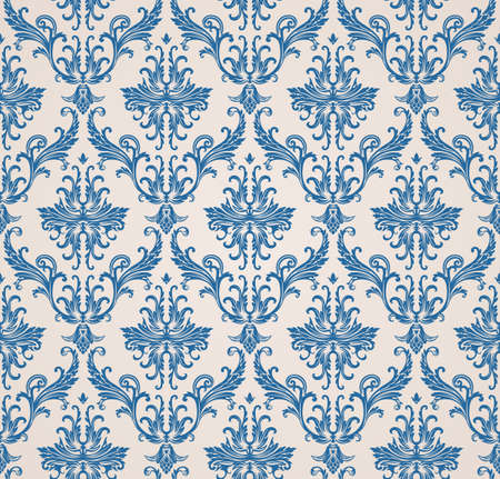 Vector seamless pattern with art ornament. Vintage elements for design in Victorian style. Ornamental lace tracery background. Ornate floral decor for wallpaper. Endless texture Иллюстрация