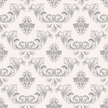 victorian pattern: Vector seamless pattern with art ornament. Vintage elements for design in Victorian style. Ornamental lace tracery background. Ornate floral decor for wallpaper. Endless texture Illustration