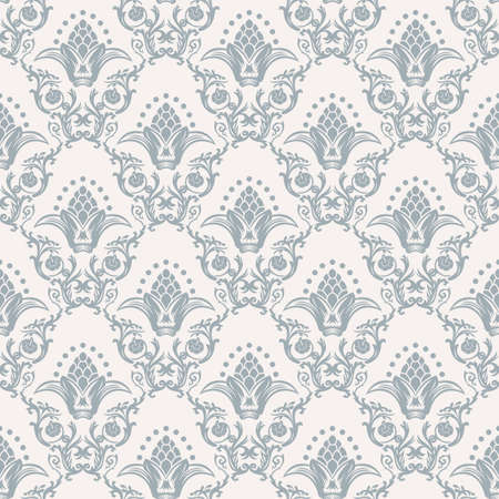arabesque pattern: Vector seamless pattern with art ornament. Vintage elements for design in Victorian style. Ornamental lace tracery background. Ornate floral decor for wallpaper. Endless texture Illustration