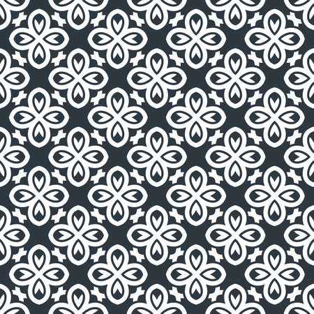 white wallpaper: Seamless background in Arabic style. Black and white wallpaper with patterns for design. Traditional monochrome oriental decor