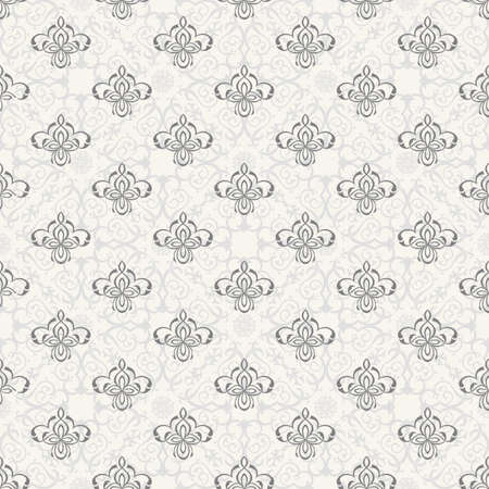 floral elements: Vector seamless pattern with art ornament. Vintage elements for design in Victorian style. Ornamental lace tracery background. Ornate floral decor for wallpaper. Endless texture Illustration