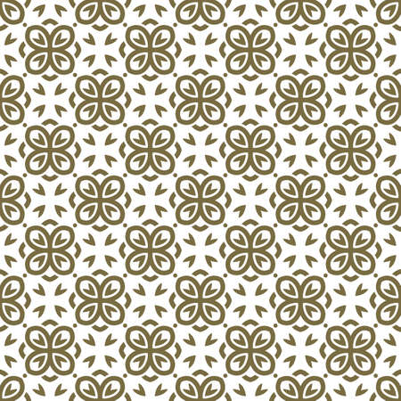 wallpaper floral: Vector seamless pattern with art ornament. Vintage elements for design in Victorian style. Ornamental lace tracery background. Ornate floral decor for wallpaper. Endless texture Illustration
