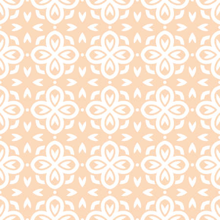 victorian wallpaper: Vector seamless pattern with art ornament. Vintage elements for design in Victorian style. Ornamental lace tracery background. Ornate floral decor for wallpaper. Endless texture Illustration