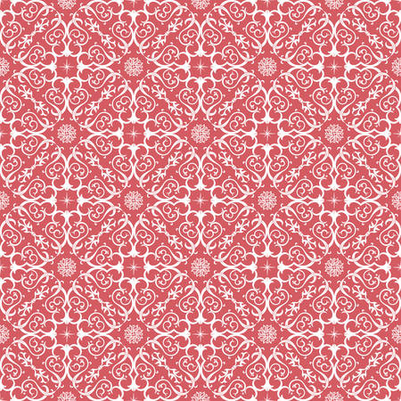 motives: Vector seamless pattern with art ornament. Vintage elements for design in Victorian style. Ornamental lace tracery background. Ornate floral decor for wallpaper. Endless texture Illustration