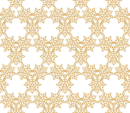 white wallpaper: Seamless background in Arabic style. Gold, white wallpaper with patterns for design. Traditional oriental decor