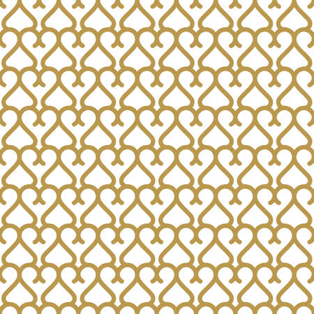 arabic gold: Seamless background in Arabic style. Gold  wallpaper with patterns for design. Traditional oriental decor Illustration