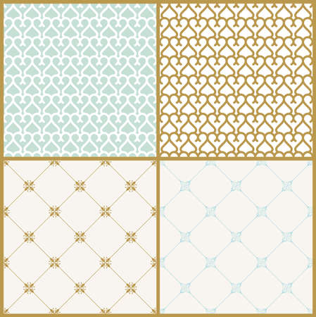 tracery: Vector seamless pattern with art ornament. Vintage elements for design in Victorian style. Ornamental lace tracery background. Ornate floral decor for wallpaper