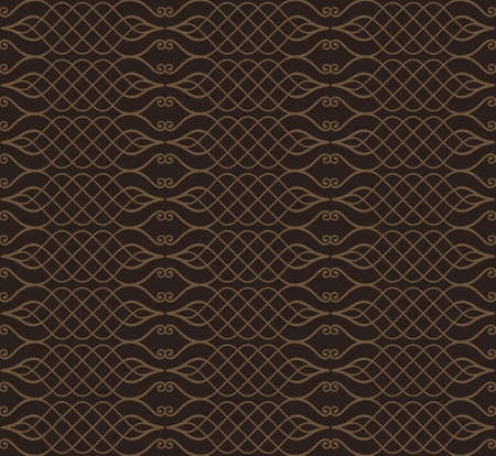 brown wallpaper: Seamless background in Arabic style. Black, brown wallpaper with patterns for design. Traditional oriental decor Illustration