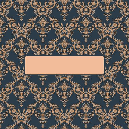 pattern antique: Seamless ornament vintage background. Baroque antique Pattern vector illustration