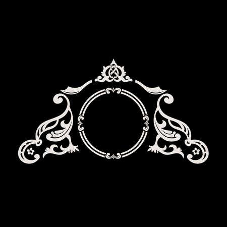 Vector de la insignia de la vendimia. Caligráfica elegante elemento decorativo ornamento