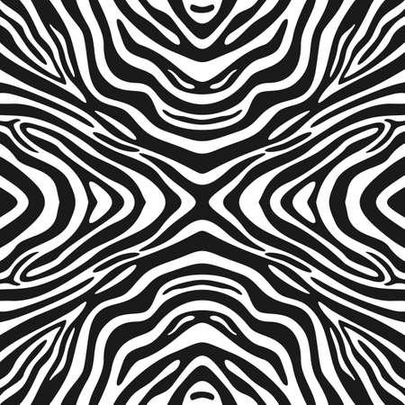 zebra stripes: Trendy seamless zebra Stripes background. Vector pattern Illustration