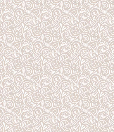 repetition: Seamless floral tile background pattern in vector. Henna paisley mehndi doodles design pattern. Tattoo decor