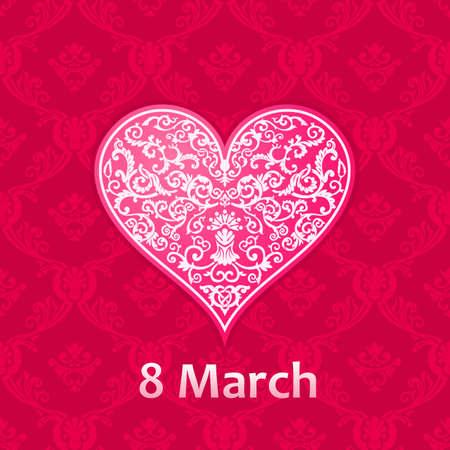 mujer: día del vector tarjetas de plantillas de la mujer. Las mujeres de las tarjetas del día etiquetas o carteles. tarjetas de regalo de San Valentín. Ilustración de la mujer del vector del día. Amor fondos rojos Día de la Mujer Vectores