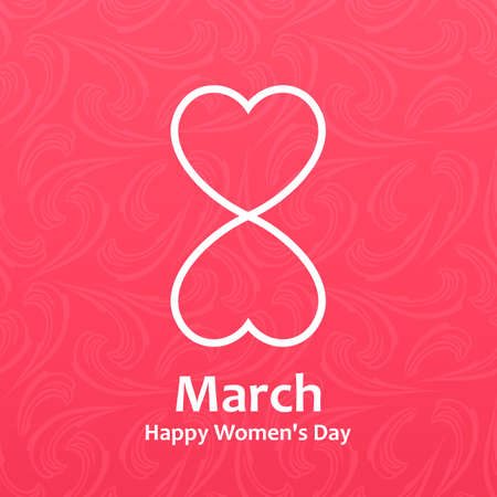 day: Womans day Vector cards templates. Womens day cards labels or posters. Valentines Day gift cards. Woman day vector illustration. Love Womans day red backgrounds