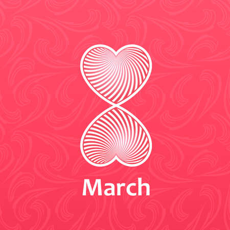 womans: Womans day Vector cards templates. Womens day cards labels or posters. Valentines Day gift cards. Woman day vector illustration. Love Womans day red backgrounds