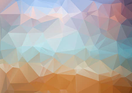 grid pattern: Abstract background. Colorful abstract background for design. Vector template pattern. Geometric triangular mosaic colors of the sea and sand sky. vector illustration frame Illustration