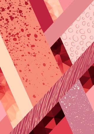 triangulo: Fondo abstracto. Geométrica de vectores de fondo abstracto, de color pastel. Moderno y elegante Póster de diseño abstracto, cubierta, diseño de la tarjeta. Dibujados a mano de la textura de la vendimia, puntos y elementos de patrón geométrico Vectores