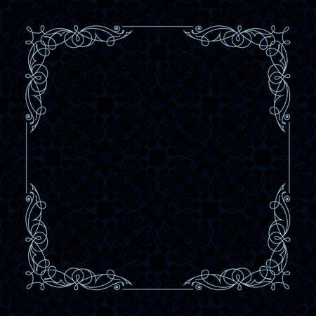 bordure de page: border frame noir et blanc. Modèle de conception pour la carte de voeux de mariage, invitation, menu, étiquette. page Conception graphique. Motif vector background.