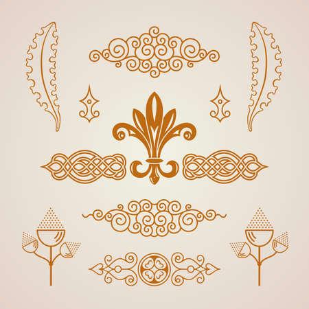calligraphic design: Calligraphic Design vintage elements