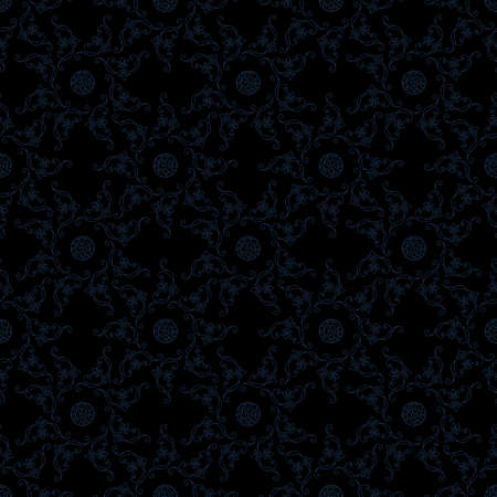royal background: Seamless islam pattern. Vintage floral background. Vector islamic royal black pattern. Oriental design and baroque wallpaper