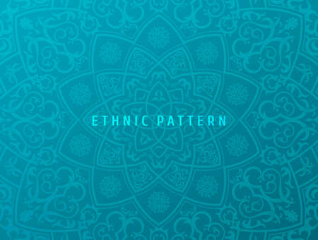 Ethnic vector background. Vintage pattern mandala design for invitations, cards. Eastern floral pattern. Oriental ornament in boho style. Islamic background.