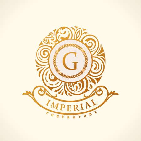 Calligraphic floral baroque monogram. Emblem S