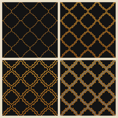 ornate background: Oriental ornate seamless background set in Eastern style
