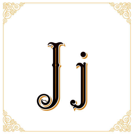 artdeco: Vector Vintage Font. Letter and monogram in the calligraphic style. Qualitative manual work Stock Photo