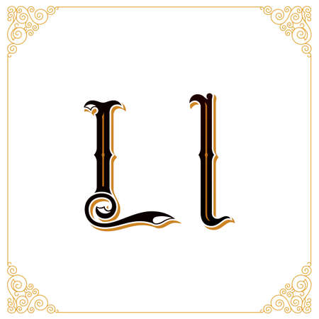 Vector Vintage Font. Letter and monogram in the calligraphic style. Qualitative manual work Illustration