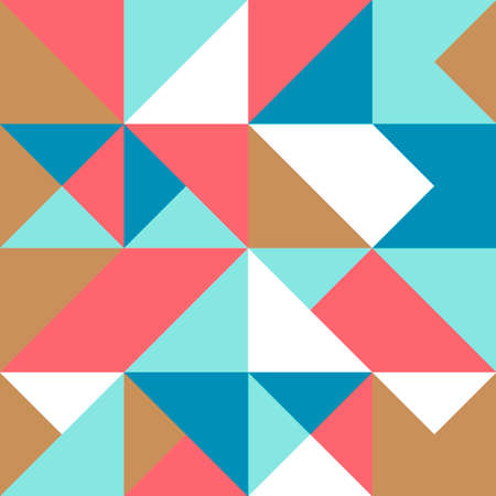 Geometric simple colored seamless pattern. Abstract minimalist poster. Scandinavian background