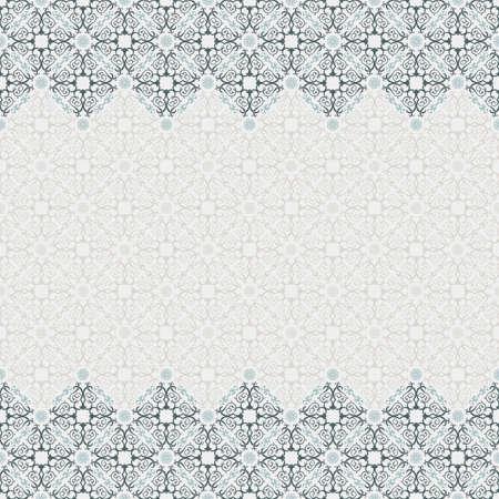 Seamless border vector ornate in Eastern style Illustration