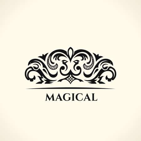 Vintage Decorative Elements Flourishes Calligraphic Ornament. Floral logo