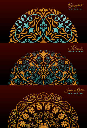 Vintage luxury decorative design of golden mandala. Vector background for greeting card Stock Vector - 124891915