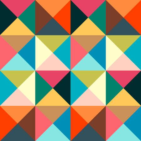 Geometric simple colored seamless pattern. Abstract minimalist poster. Scandinavian background Иллюстрация