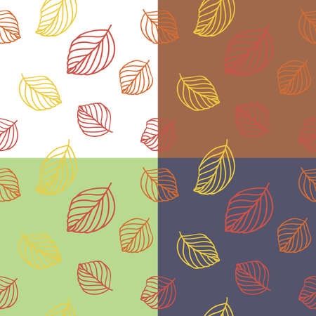 yellow red: yellow, red and orange leaves seamless pattern Illustration
