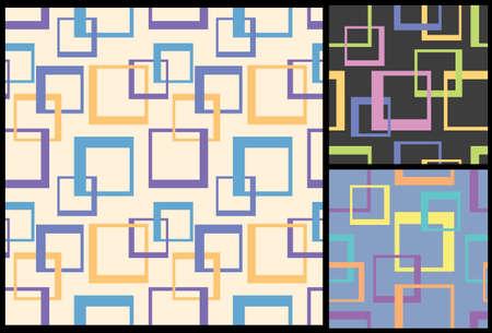cuadrados: ajusta el modelo, modelo moderno decorativo, modelo geométrico, modelo inconsútil, fondo decorativo, fondo de los cuadrados