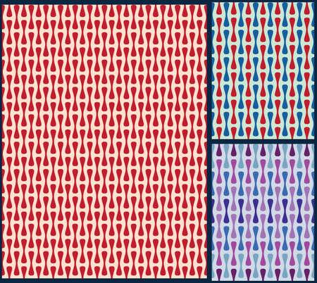 Retro-Muster, Stoffmuster, Verpackung Muster, einfache Retro-Muster, geometrische Muster, Form Muster, retro Hintergrund, Wellenmuster