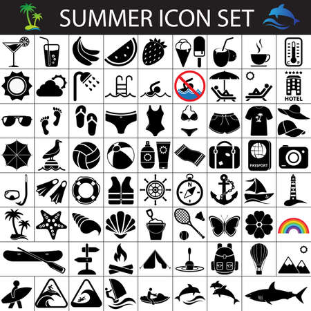 dive trip: summer flat icons, summer icon set,  holidays icons, tourism icons, beach icons, vacation icons, summer icons, journey icons, recreation icons