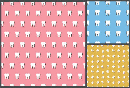 incisor: dental tooth pattern, seamless pattern,  dental pattern, tooth pattern, dentist pattern, medical pattern, dental background, tooth background, medical background, tooth seamless pattern, tooth care