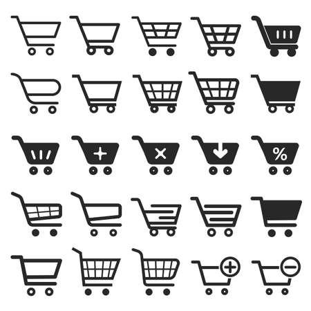 Compras conjunto de iconos, icono de las compras carrito, carro de compras, icono de la empresa, de iconos, el icono de tranvía, compras icono, icono del carro, tienda de icono, botón del carro de compras Foto de archivo - 59894892