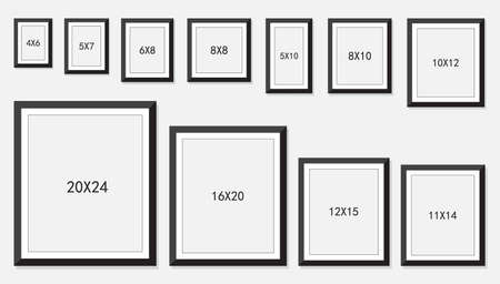 Picture And Photo Frames Size Royalty Free Cliparts Vectors And