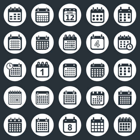 calendar icon: calendar icons vector