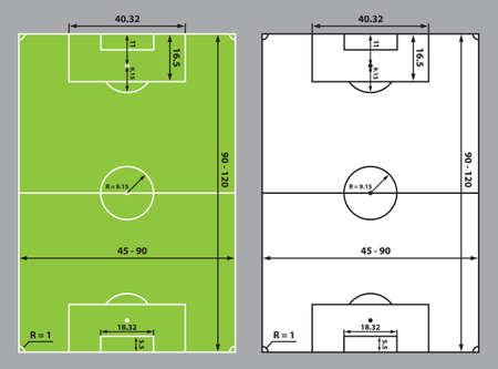 Ein Fussballfeld Oder Fussballfeldgrossen Stadiondesign