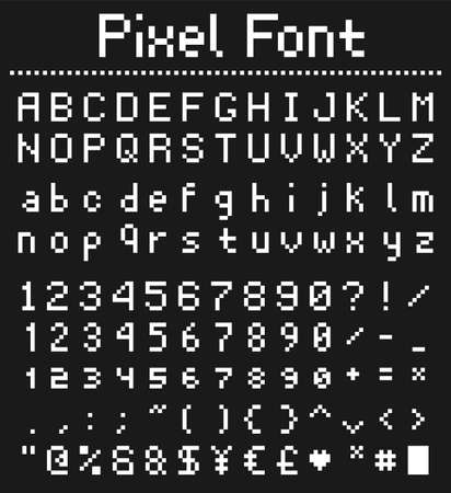 pixel game font retro styled