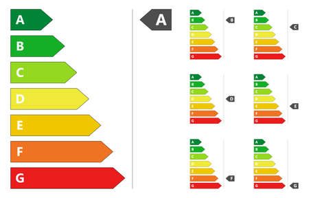 Energy Efficiency rating classification Illustration