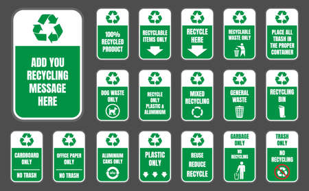 recycle signs set Stock Vector - 86148936