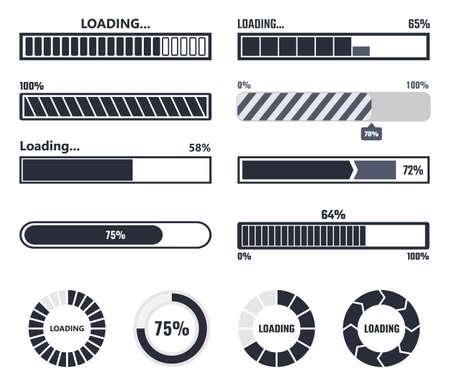 Loading bar elements Stock Illustratie